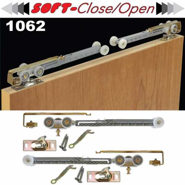 Soft Close Kit for Bypass Closet Door --2 Direction--
