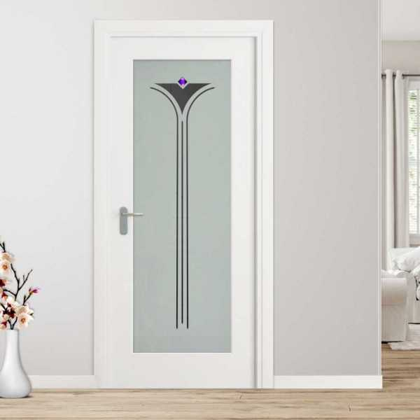 1 Lite Interior Door with Glass Insert (Model 1LID-0018 Semi-Private)