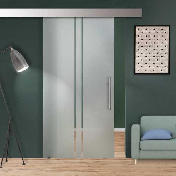 Glass Barn Door (Model SGD-ALU100-0104 Semi-Private)