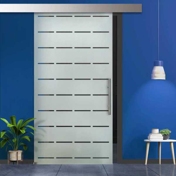 Glass Barn Door (Model SGD-ALU100-0050 Semi-Private)
