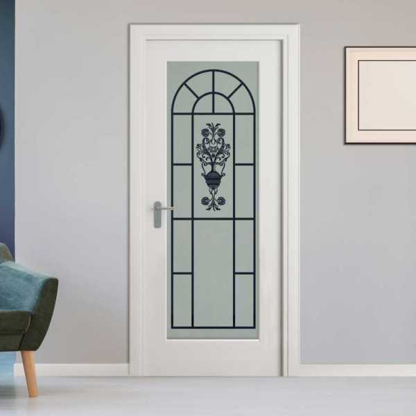 Pantry Room MDF Hinged Doors with Glass Insert CHMDI-00013 (Semi-Private)