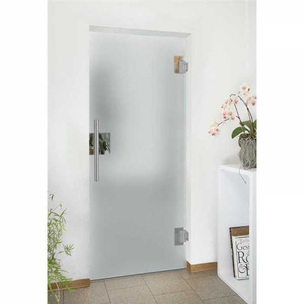 High Quality Frameless Decorated Frosted Sandbasted Pivot Hinged