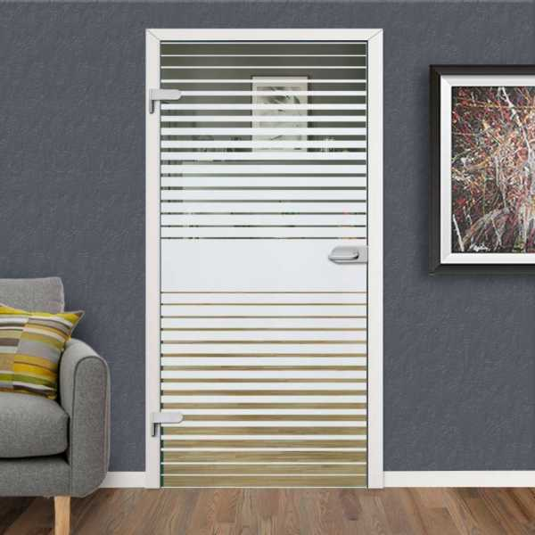 Hinged Glass Door HGD-H+H-0102 (Semi-private)