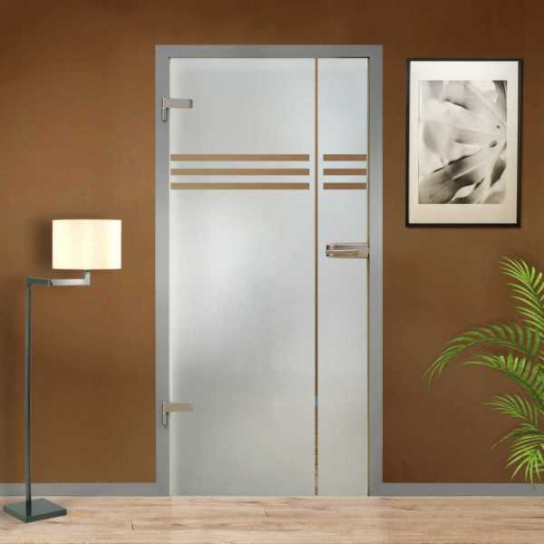 Hinged Glass Door (Model HGD-H+H-0095 Semi-Private)