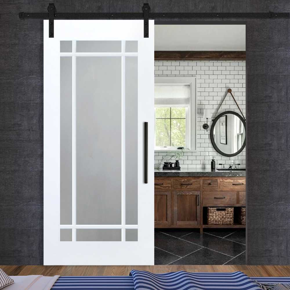 French 4 Lite Mdf Sliding Barn Door Glass Door Us Innovation Perfection Made Of Glass