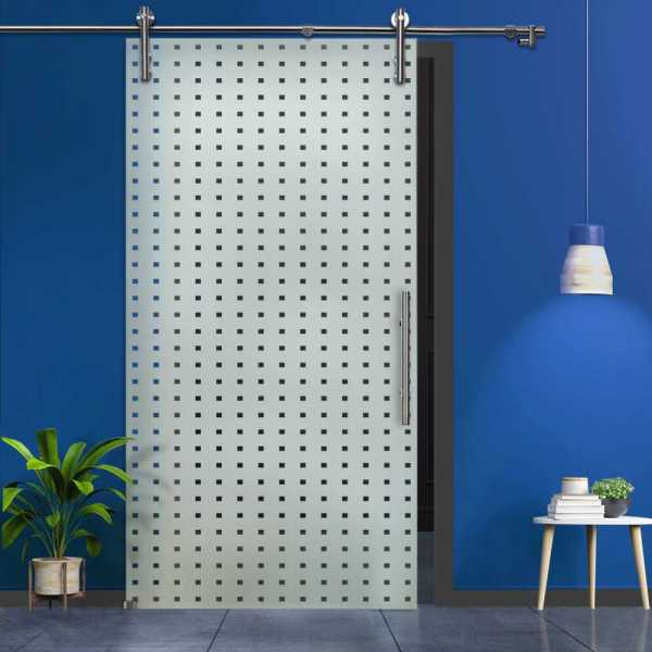 Single Sliding Glass Barn Door SGD-V1000-0051