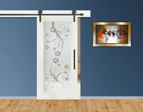 1 Lite MDF Sliding Door with Glass Insert WGD-0006