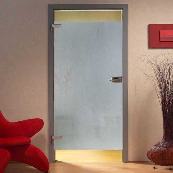 Hinged Glass Door, 26 1/8 '' x 77'', Thickness: 8mm and Semi Private Design