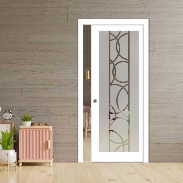 Glass Barn Door (Model PWGD-0016 Semi-Private)_Recessed Grip Handle