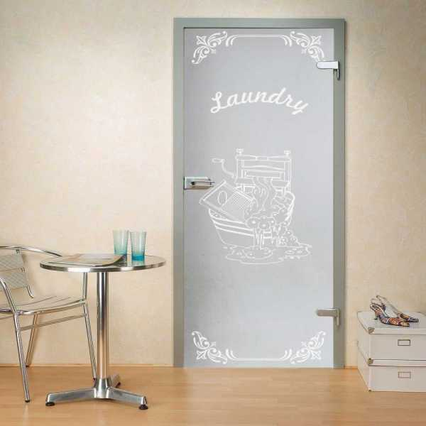 """Hinged Glass Door, 32"""" x 80"""", full private, opening direction: right, glass thickness: 10mm"""