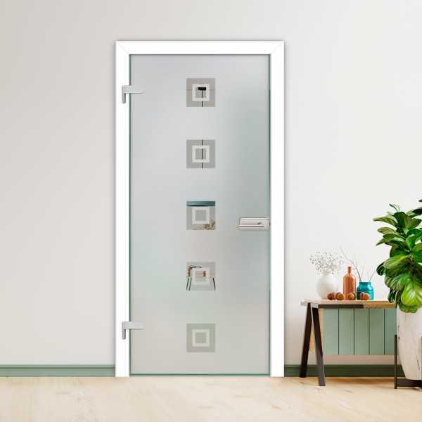 Hinged Glass Door (Model HGD-H+H-0031 Semi-Private)