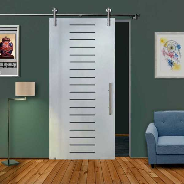 Single Glass Barn Door SGD-V1000-0105