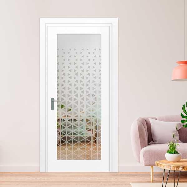 1 Lite Interior Door with Glass Insert (Model 1LID-0030 Semi-Private)