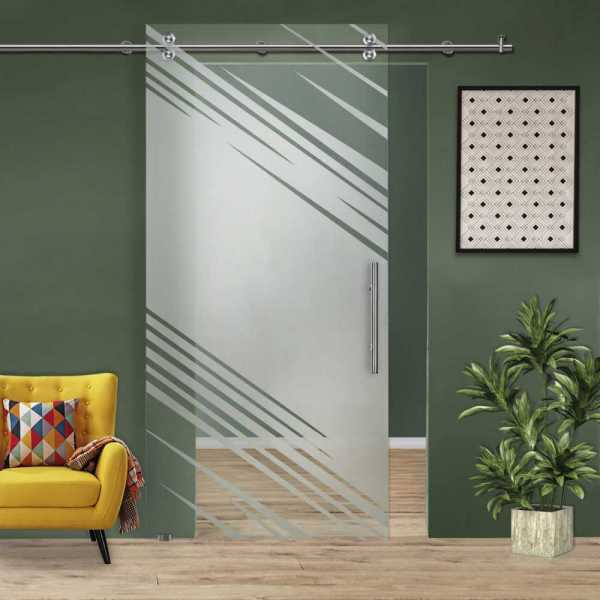 Single Sliding Barn Glass Door SGD-V2000-0238