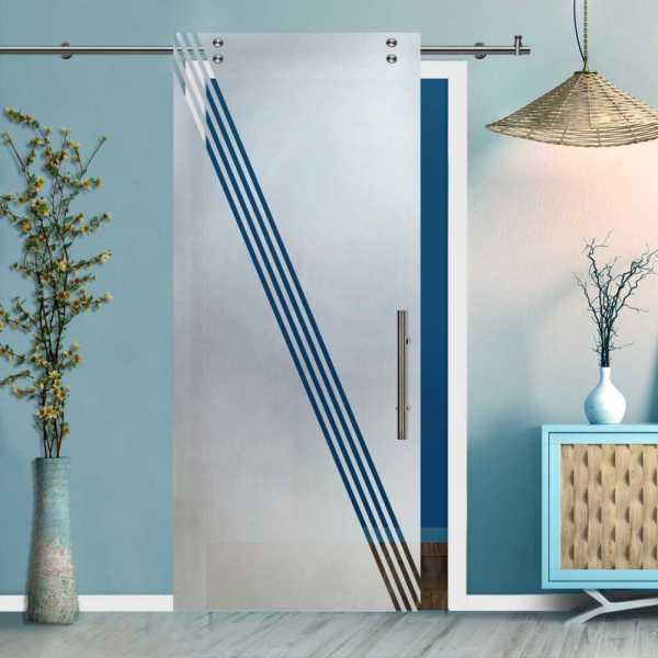 Glass Barn Door (Model SGD-V2000-0409 Semi-Private)
