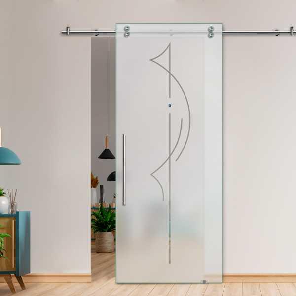 Single Sliding Barn Glass Door SGD-V2000-0084
