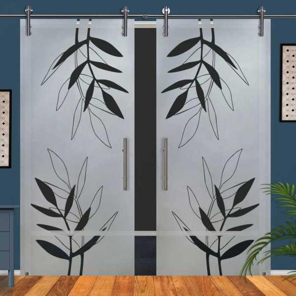 Double Glass Barn Door (Model DSGD-V1000-0071 Semi-Private)