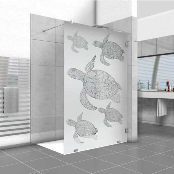 Frameless Fixed Shower Glass Panel FSS-0200 (Semi-Private)