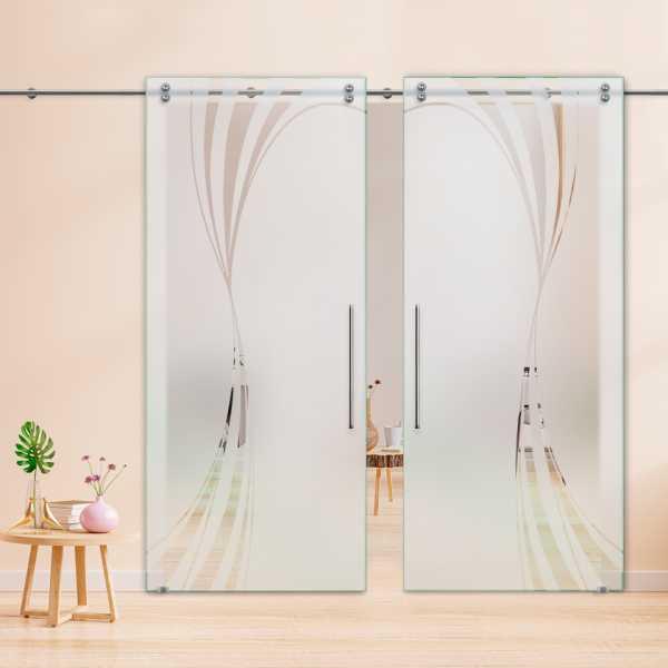 Glass Barn Door (Model DSGD-V2000-0018 Semi-Private)