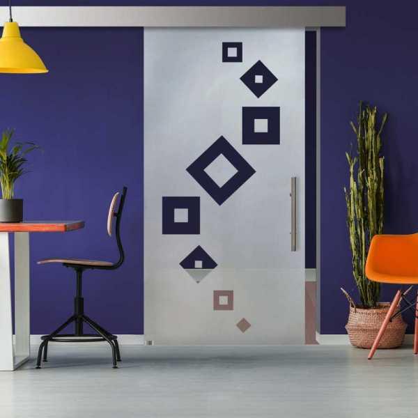 Glass Barn Door (Model SGD-ALU100-0324 Semi-Private)