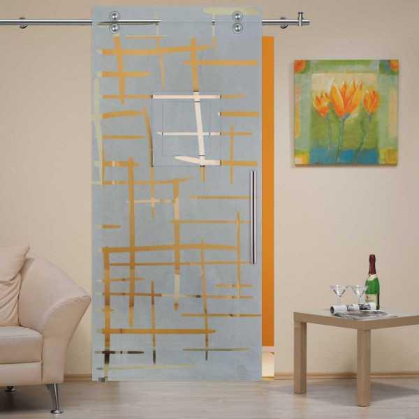 Single Sliding Barn Glass Door SGD-V2000-0223
