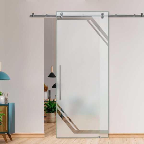 Glass Barn Door (Model SGD-V2000-0245 Semi-Private)