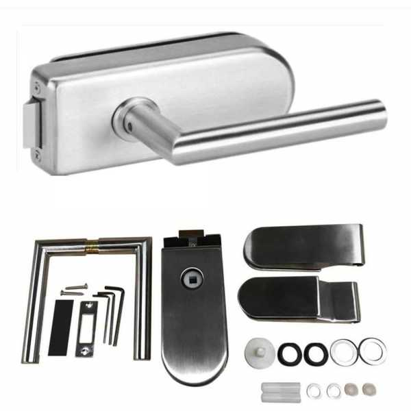 Stainless Steel Glass Door Lock 6-12MM Thick Glass Hardware