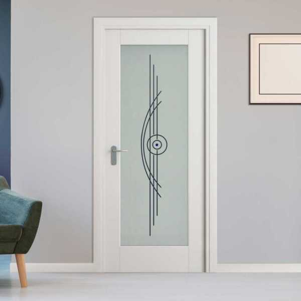 1 Lite Interior Door with Glass Insert (Model 1LID-0017 Semi-Private)