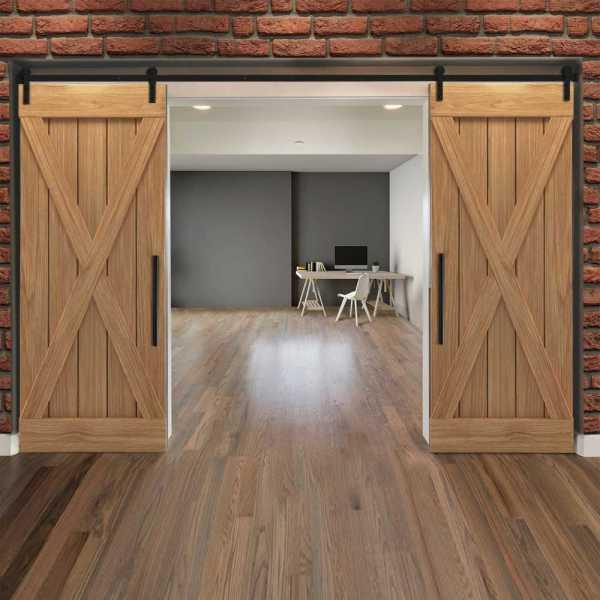 X Double Sliding Barn Door