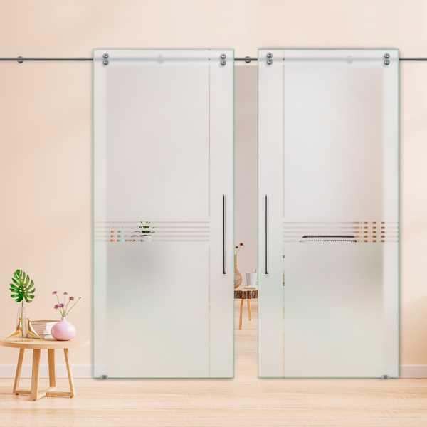 Glass Barn Door (Model DSGD-V2000-0010 Semi-Private)