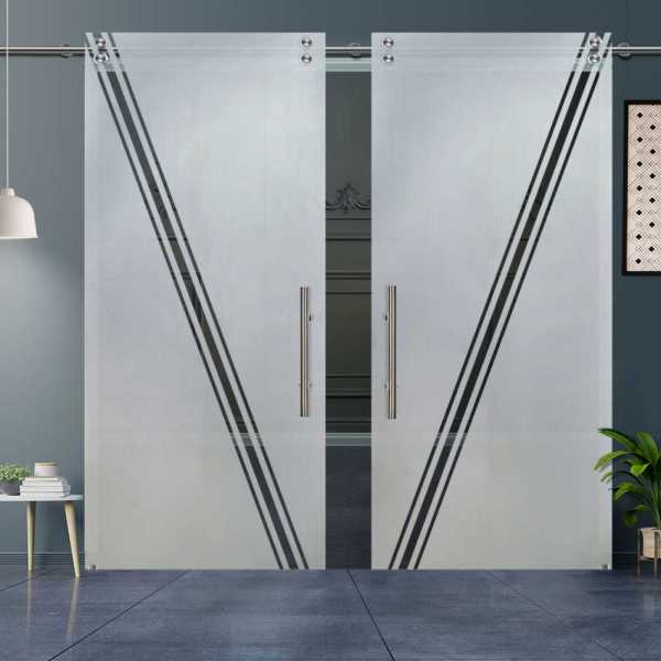 Glass Barn Door (Model DSGD-V2000-0044 Semi-Private)