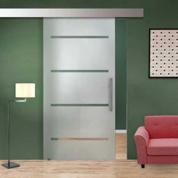 Glass Barn Door (Model SGD-ALU100-0085 Semi-Private)