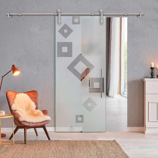 Glass Barn Door (Model SGD-V1000-0323 Semi-Private)