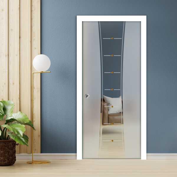 Pocket Glass Barn Door (Model PSGD-0064 Semi-Private)