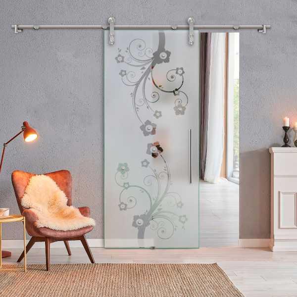 Glass Barn Door (Model SGD-V1000-0056 Semi-Private)