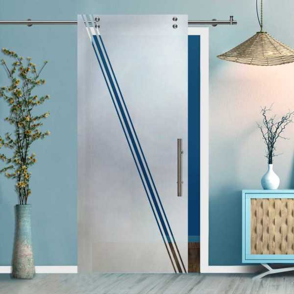 Glass Barn Door (Model SGD-V2000-0415 Semi-Private)