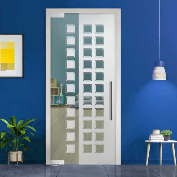 Pivot Glass Door (Model PD-0037 Semi-Private) with Handle Bar