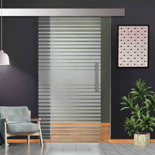Glass Barn Door (Model SGD-ALU100-0079 Semi-Private)