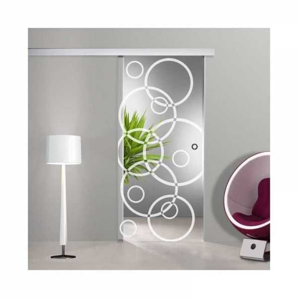 Sliding Glass Barn Door SGD-ALU100-0082 semi-private