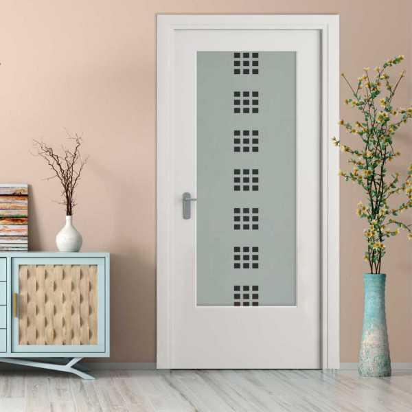 MDF Hinged Doors with Glass Insert HMDI-0010