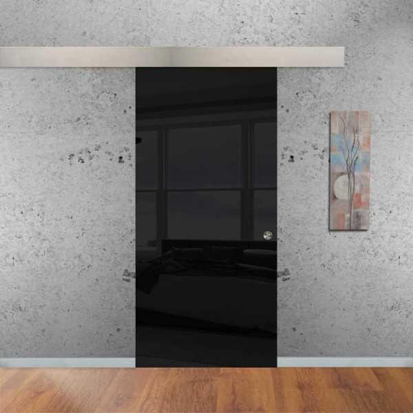 Black Sliding Glass Barn Door SGD-ALU100-0180