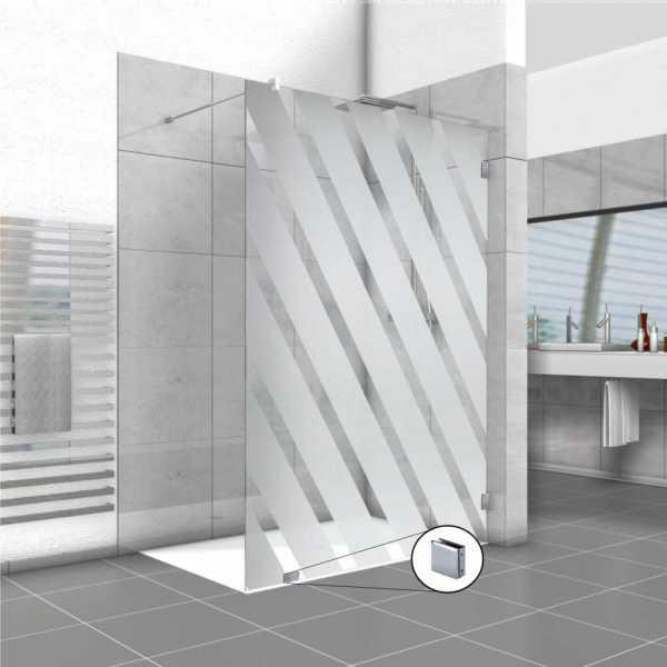 Frameless Fixed Shower Glass Panel FSS-0016