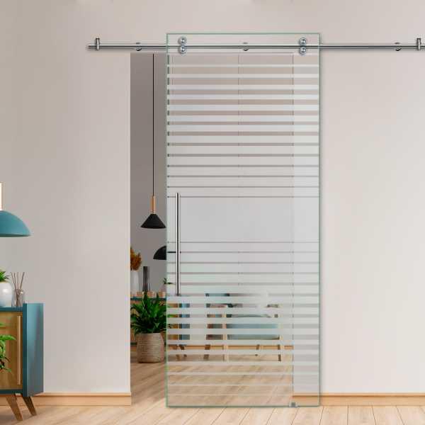 Glass Barn Door (Model SGD-V2000-0237 Semi-Private)