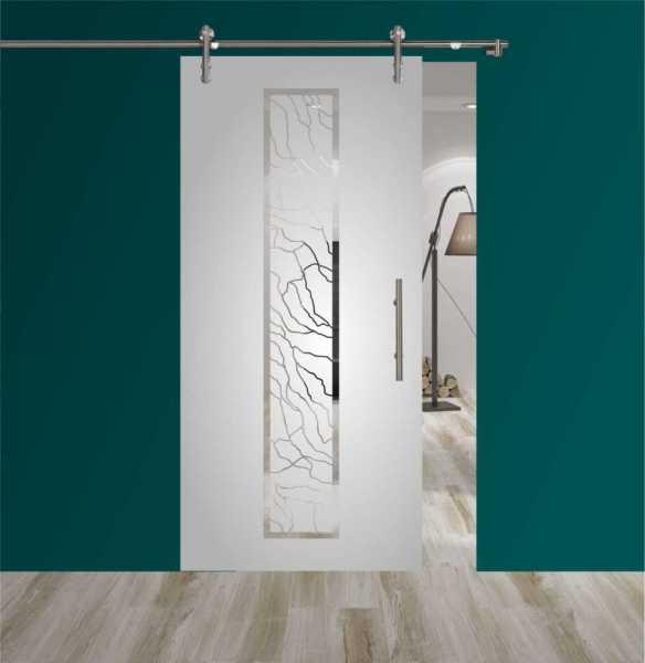 Sliding Glass Barn Door SGD-V1000-0163 semi-private