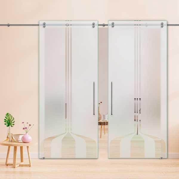 Glass Barn Door (Model DSGD-V2000-0035 Semi-Private)