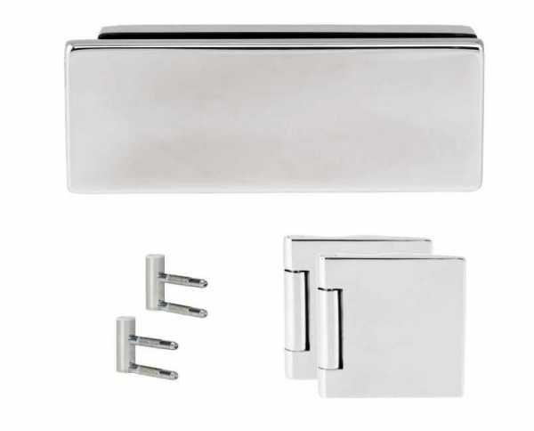 Stainless Steel Strike Box for Glass Door Lock & Latch + Junior Hinges
