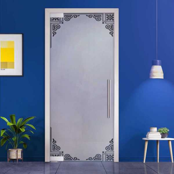 Pivot Glass Door (Model PD-0005 Semi-Private) with Handle Bar