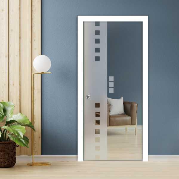 Pocket Glass Barn Door (Model PSGD-0083 Semi-Private)