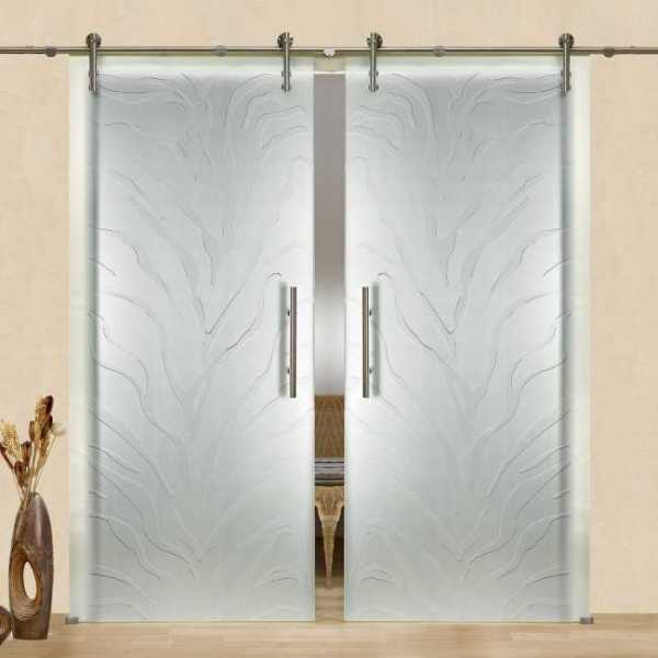2 Leaf Sliding Gl Barn Door With