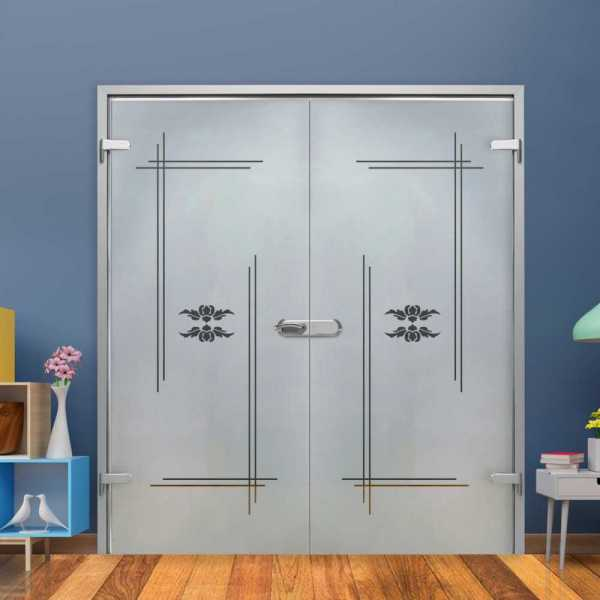 Double Hinged Glass Door H-H+DHGD-0029